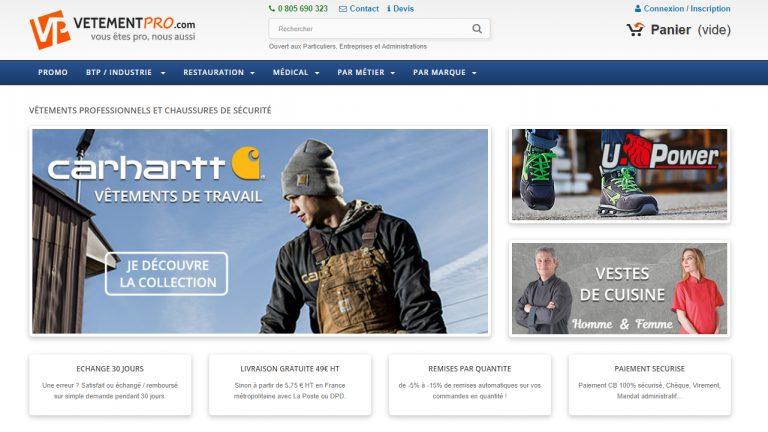 boutique vetement travail vetementpro.com